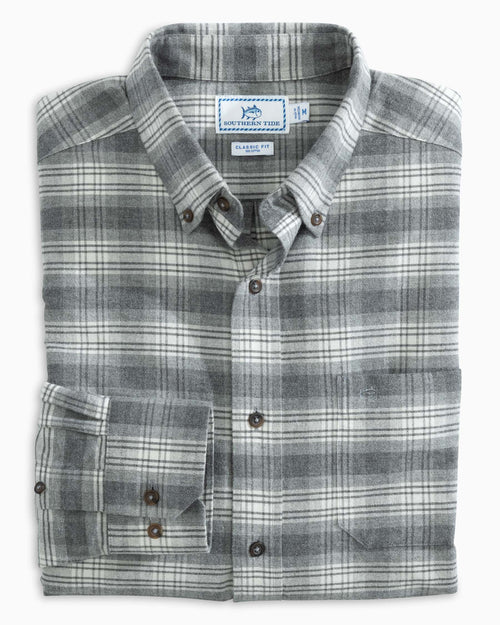 Brushed Oxford Plaid Button Down Shirt | Southern Tide