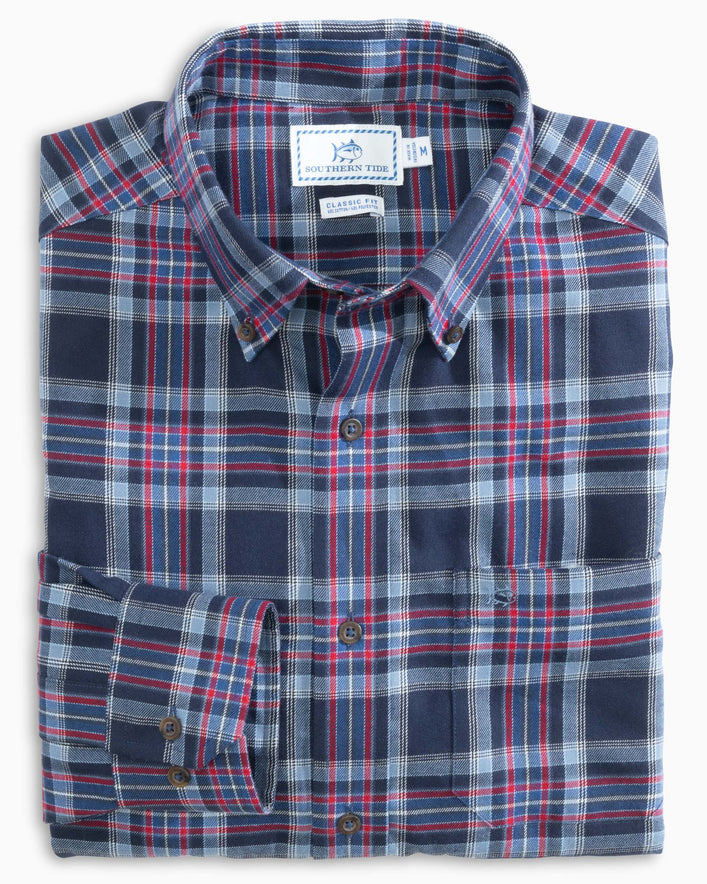 Brushed Twill Plaid Button Down Shirt
