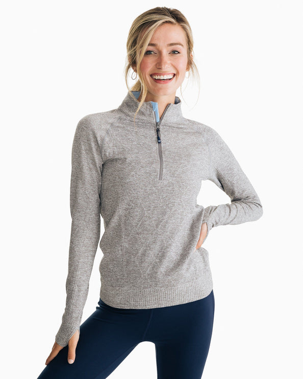 Cable Knit Athletic Quarter Zip Pullover