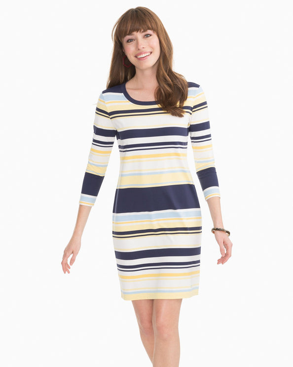 Camille Multi Striped Performance Dress