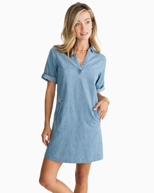 Candice Chambray Shirt Dress