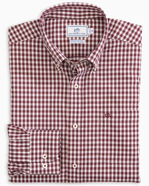 Centerline Gingham Intercoastal Performance Sport Shirt