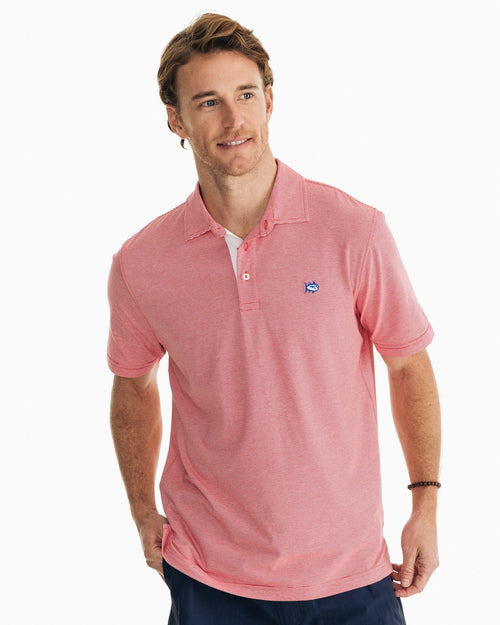 Channel Marker Striped Polo Shirt | Southern Tide
