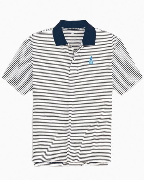 Citadel Bulldogs Pique Striped Polo Shirt | Southern Tide