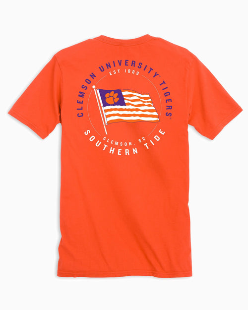 Clemson Tigers American Flag T-Shirt | Southern Tide