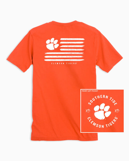 Clemson Tigers Flag T-Shirt | Southern Tide
