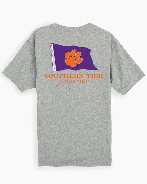 Clemson Tigers Short Sleeve Flag Gameday T-Shirt | Southern Tide