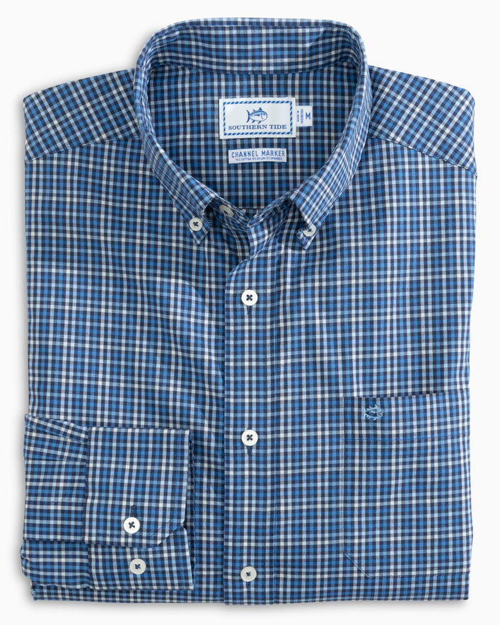 Coastal Passage Tattersall Sport Shirt