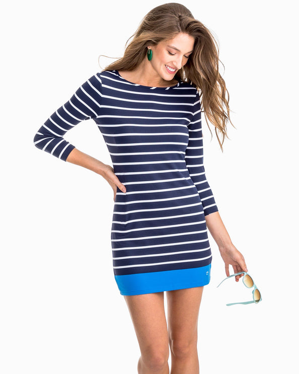 a86eddbc4cf Coastline Striped Knit Performance Dress