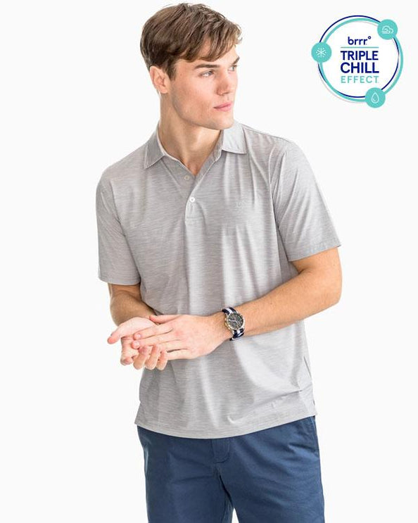 Coki Beach Space Dyed brrr Performance Polo Shirt