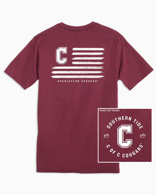 College of Charleston Cougars Flag T-Shirt | Southern Tide