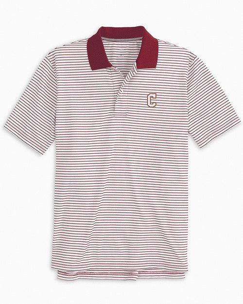 College of Charleston Cougars Pique Striped Polo Shirt | Southern Tide