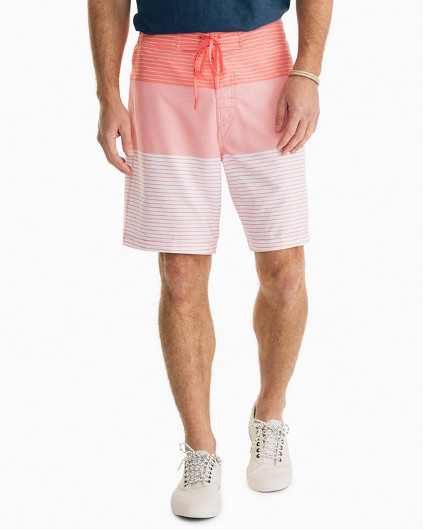 Coral Ombre Striped Swim Short