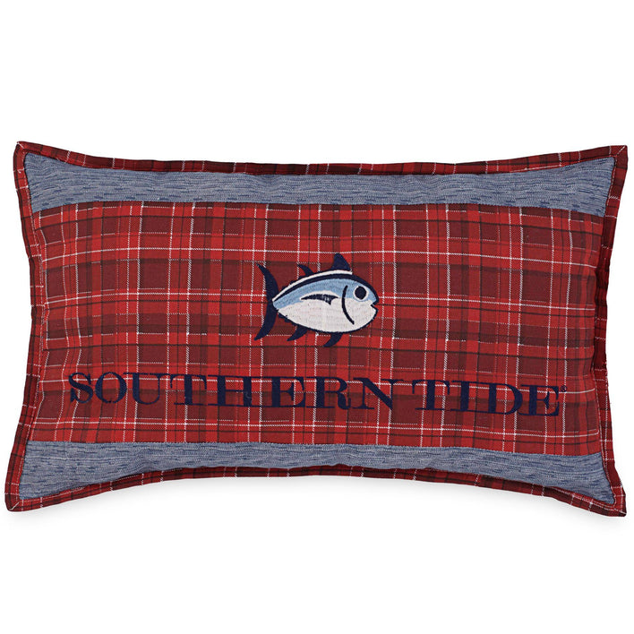 Croatan Plaid Decorative Pillow