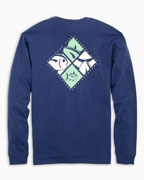 Diamond Skipjack Logo Long Sleeve T-Shirt | Southern Tide