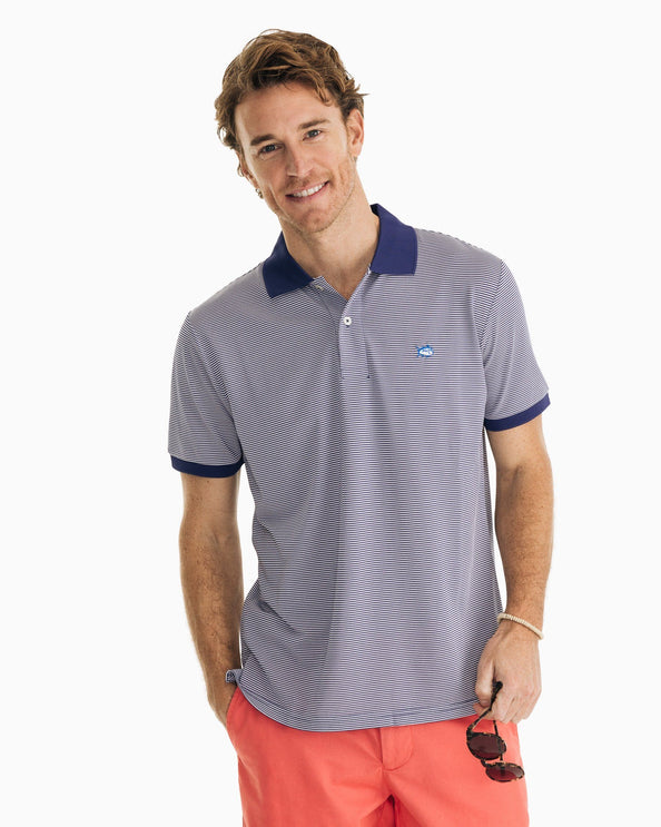 Jack Dinghy Striped Performance Pique Polo
