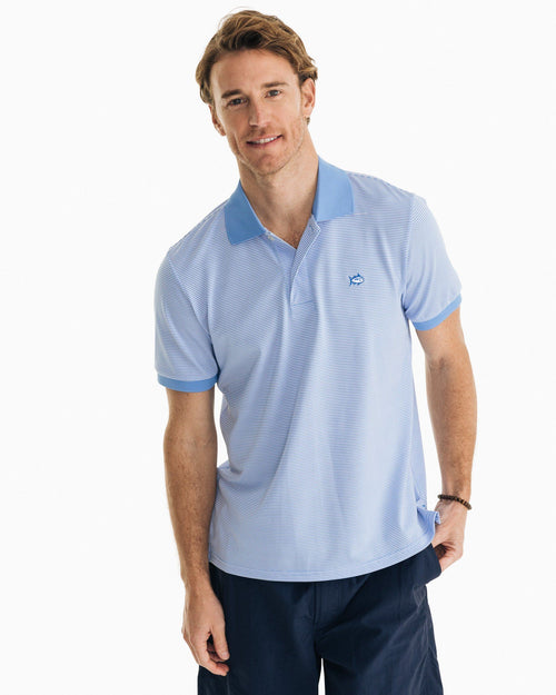 Jack Striped Performance Polo Shirt | Southern Tide