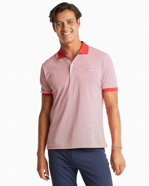 Jack Dinghy Striped Performance Pique Polo | Southern Tide