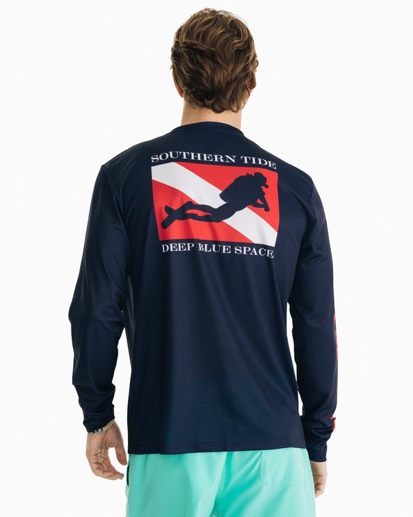 Deep Blue Space Performance Long Sleeve T-Shirt