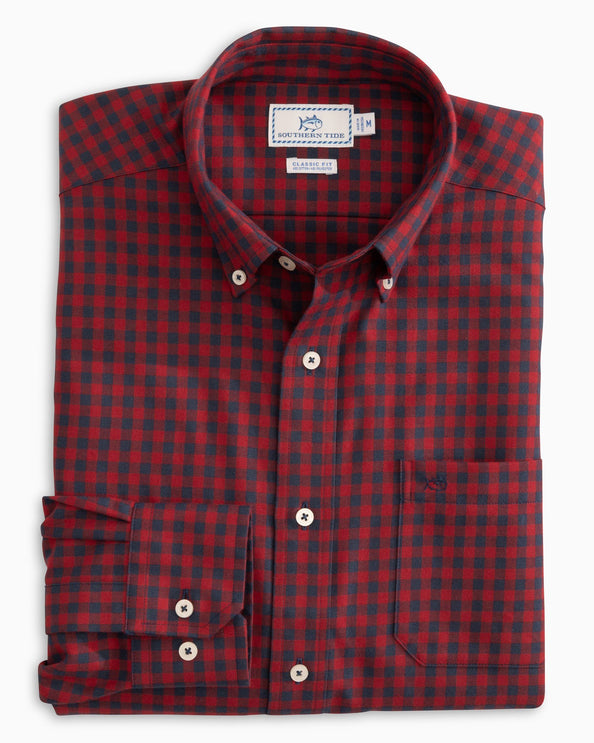 Donner Gingham Performance Button Down Shirt