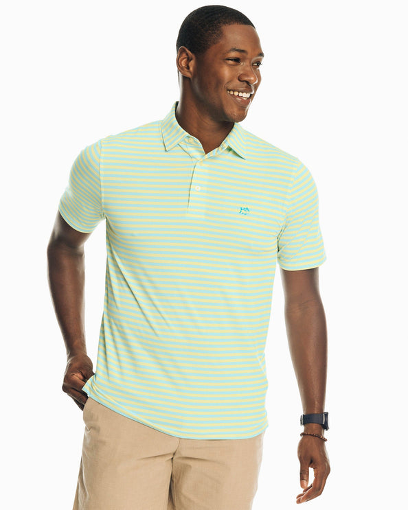 Driver Bold Stripe Performance Polo Shirt