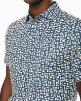 The front of the Men's Driver Brewers Print Performance Polo Shirt by Southern Tide
