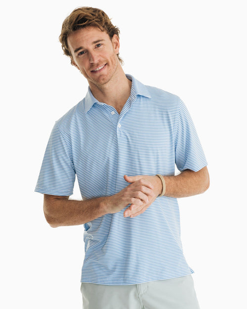 Micro-Striped Driver Performance Polo Shirt | Southern Tide