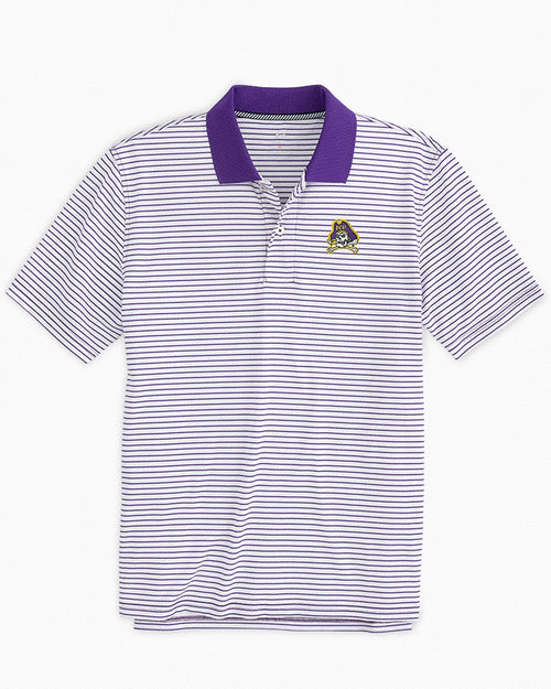East Carolina Pirates Pique Striped Polo Shirt | Southern Tide