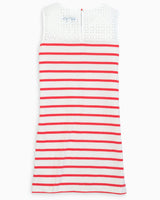 Elina Striped Sleeveless Dress | Southern Tide