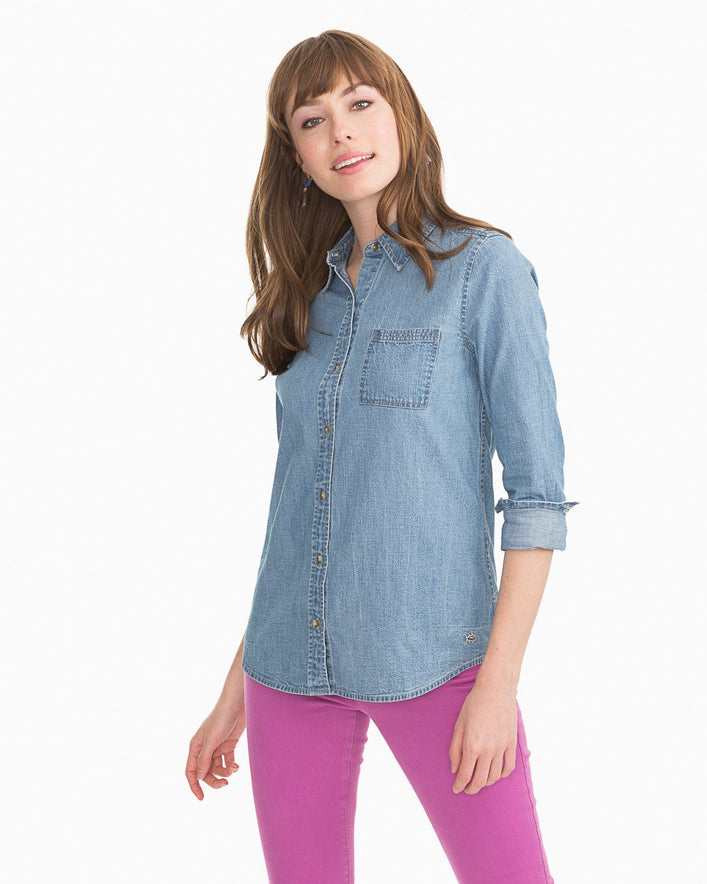 Emery Chambray Button Down Shirt