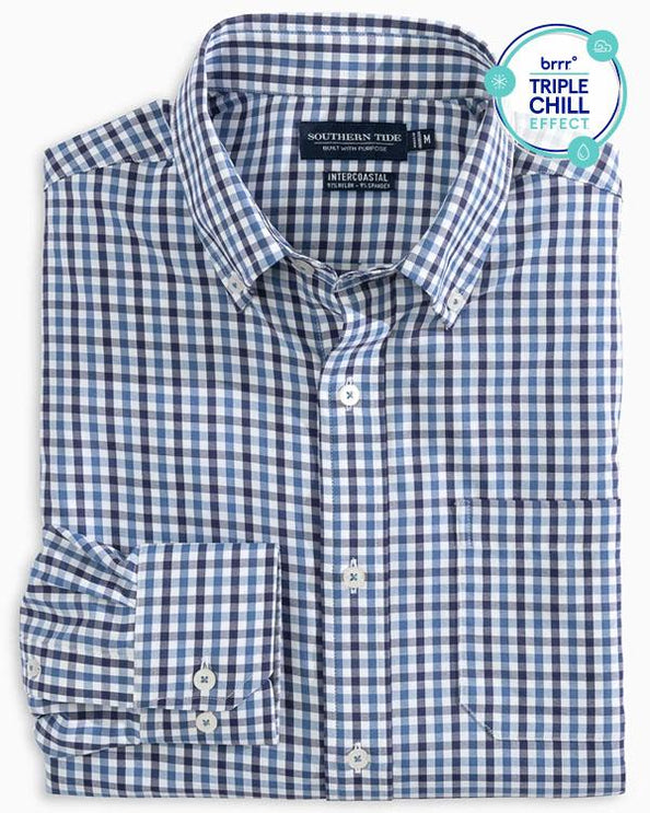 Fairwater Gingham Intercoastal Performance Sport Shirt