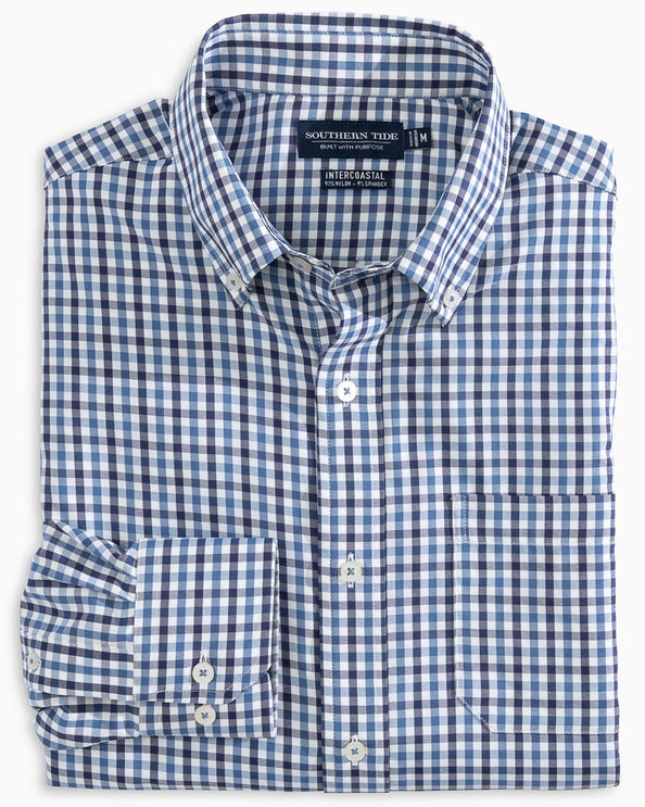 Fairwater brrr® Gingham Intercoastal Performance Sport Shirt