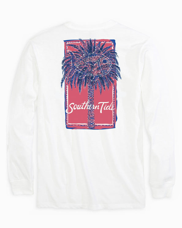 Festive Long Sleeve Palm Tree T-Shirt