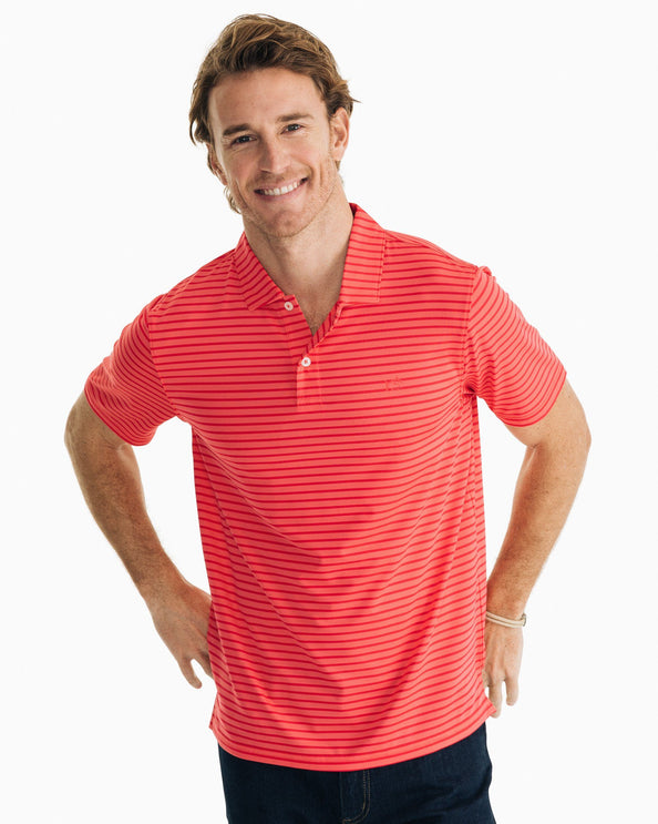 First Mate Striped Performance Polo Shirt