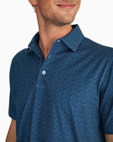 Driver Fish Print Performance Polo Shirt | Southern Tide