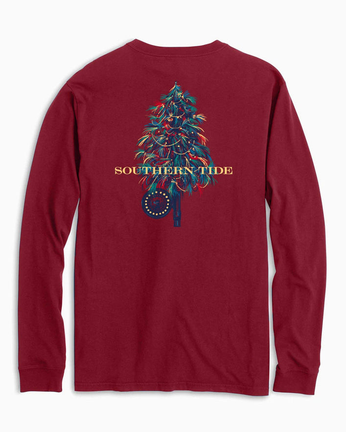 Fishing Fly Tree Long Sleeve T-Shirt