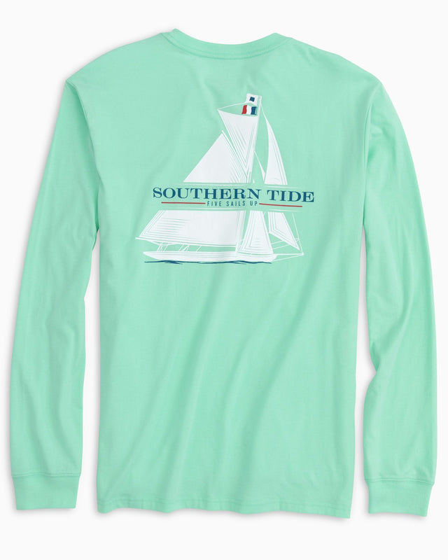 Five Sails Up Long Sleeve T-Shirt | Southern Tide