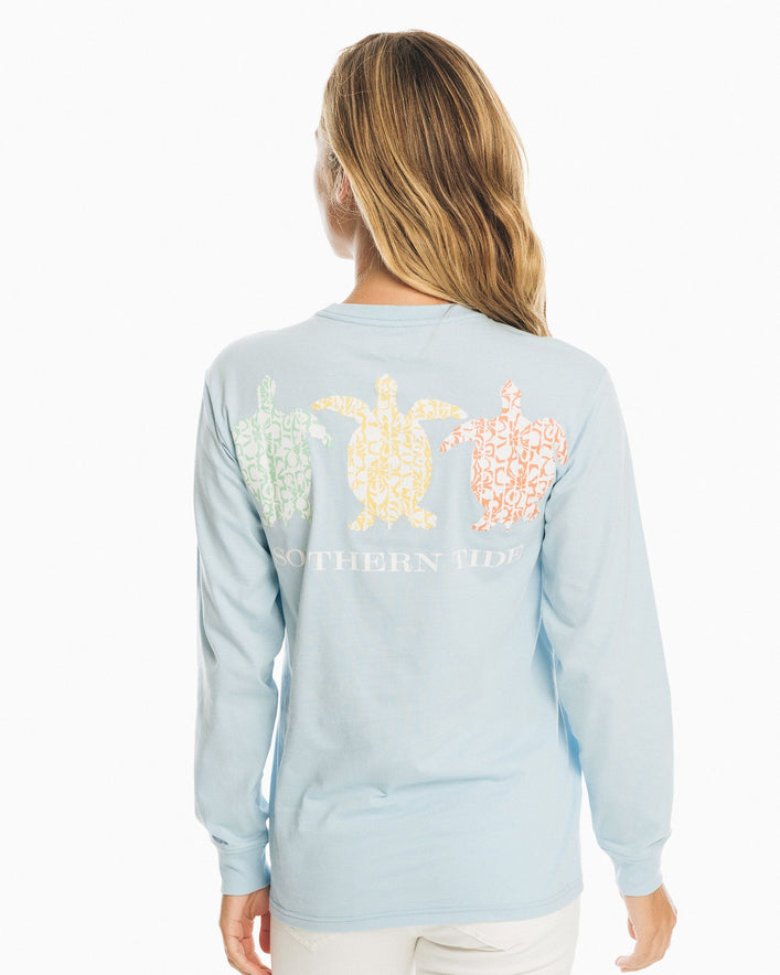 Floral Turtle Long Sleeve T-Shirt
