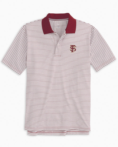 Florida State Seminoles Pique Striped Polo Shirt | Southern Tide