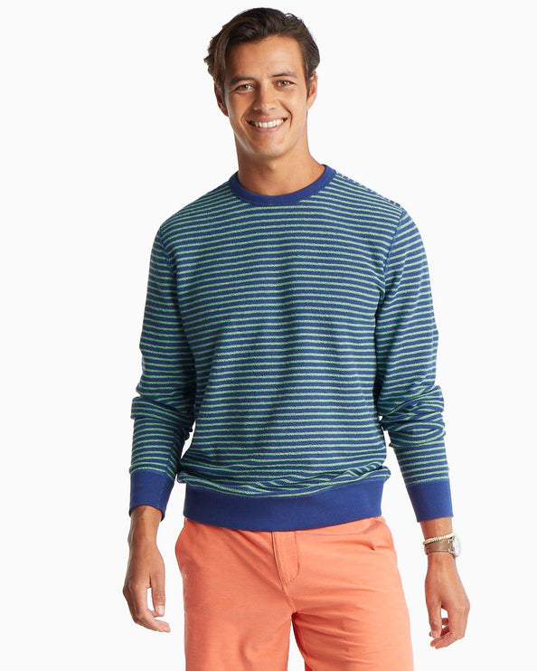 Forehand Striped Reversible Upper Deck Pullover Sweater