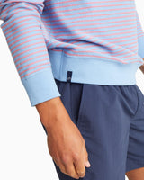 Forehand Striped Reversible Upper Deck Pullover Sweater | Southern Tide