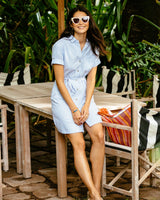 Franca Tie-Waist Dress | Southern Tide