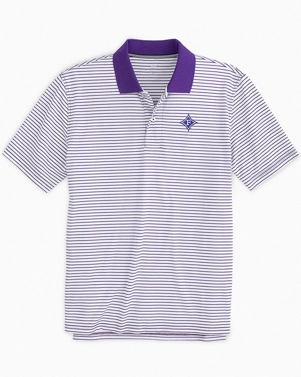 Furman Paladins Pique Striped Polo Shirt