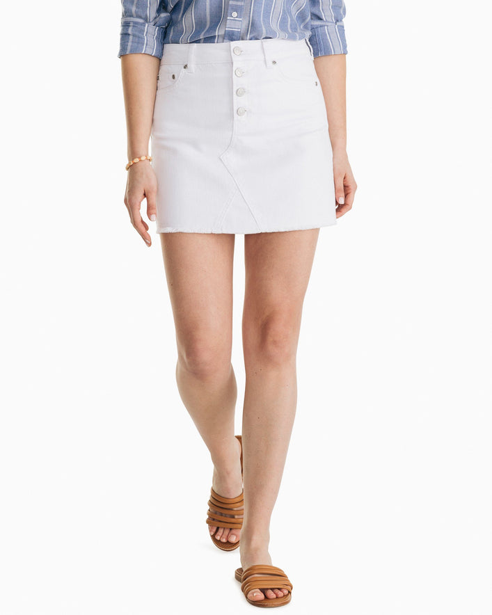Gabriela White Denim Skirt