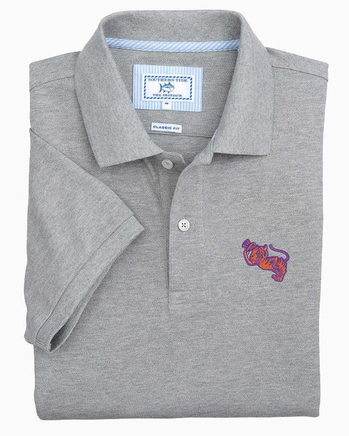 Retro Clemson Tigers Grey Cotton Polo Shirt | Southern Tide