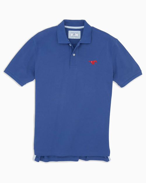 SMU Mustangs Pique Polo Shirt | Southern Tide