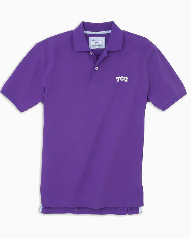 TCU Horned Frogs Pique Polo Shirt | Southern Tide