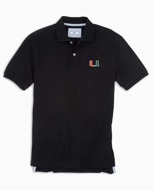Miami Hurricanes Pique Polo Shirt