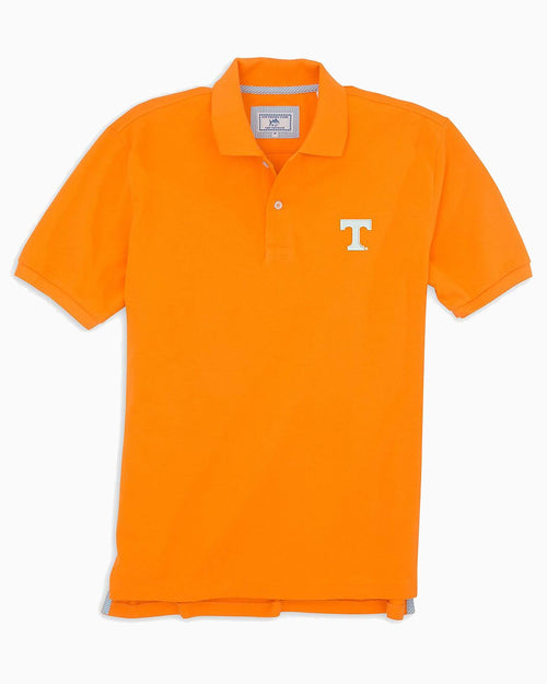 The front view of the Men's Orange Tennessee Vols Pique Polo Shirt by Southern Tide