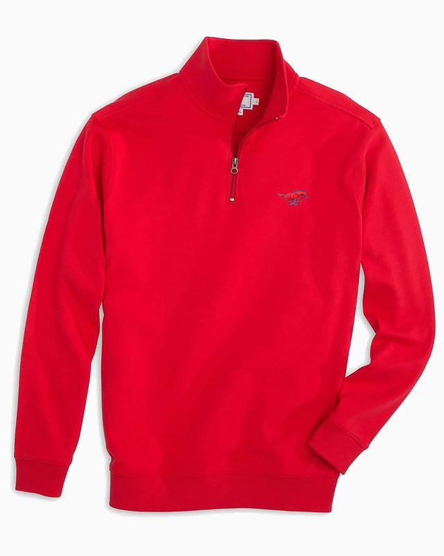 SMU Mustangs Cotton Quarter Zip Pullover | Southern Tide